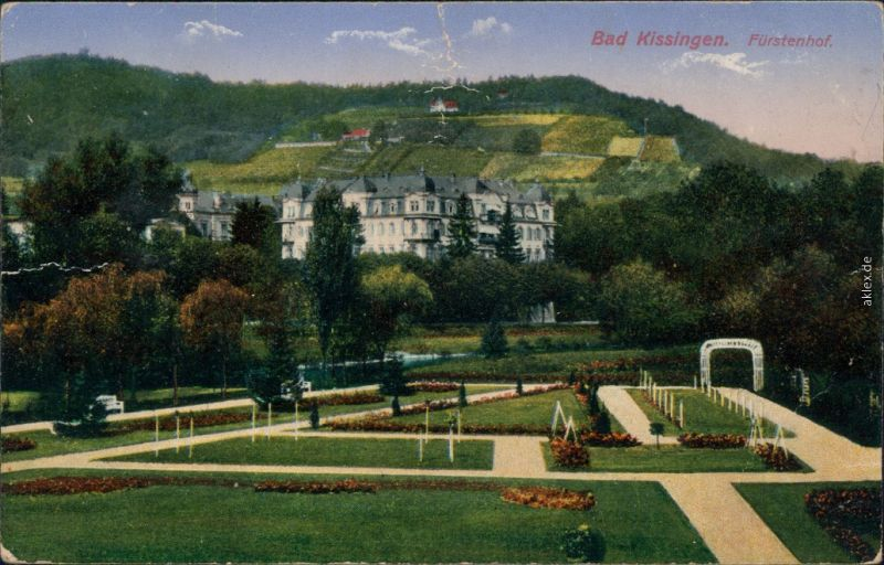 Ansichtskarte Bad Kissingen Fürstenhof 1917