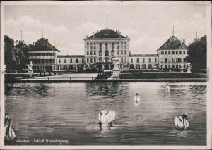 Ansichtskarte München Schwäne - Schloß Nymphenburg 1937