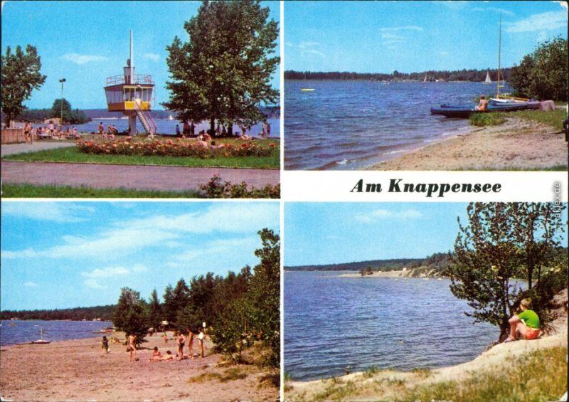 Ansichtskarte Groß Särchen-Lohsa Łaz Knappensee Badestrand g1984