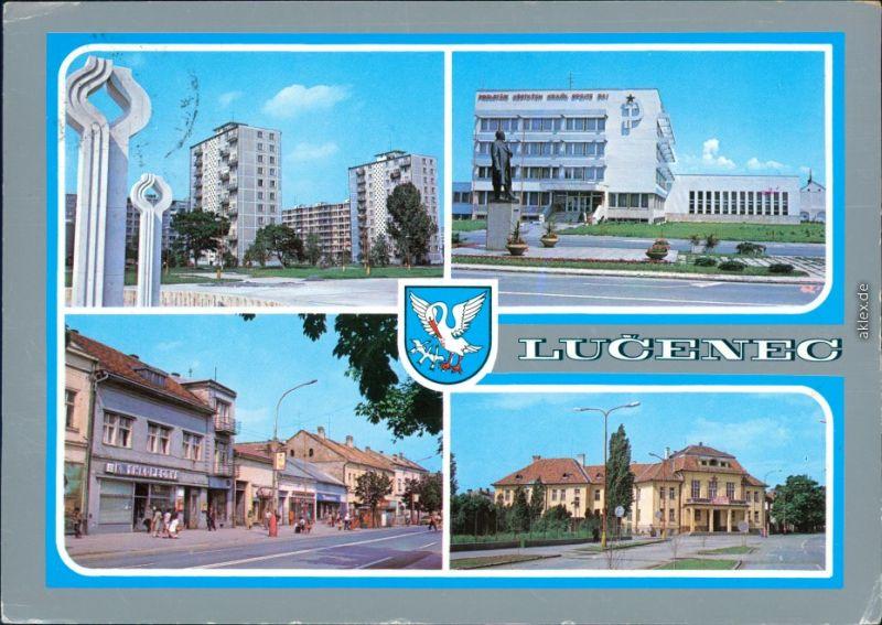 Ansichtskarte Lučenec 4 Bild Ansichten 1980