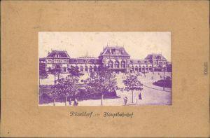 Ansichtskarte Düsseldorf Hauptbahnhof  Parcepartout 1909