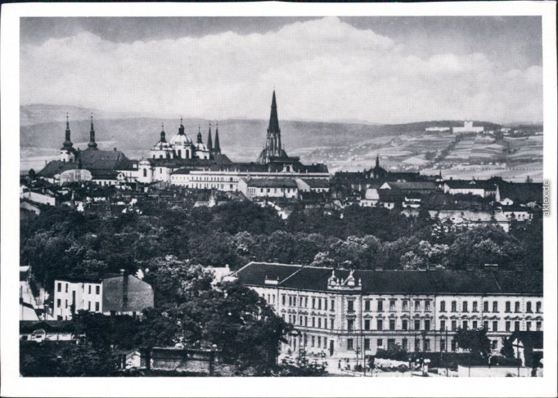Heiligenberg-Olmütz Svatý Kopeček Olomouc Panorama-Ansicht 1960