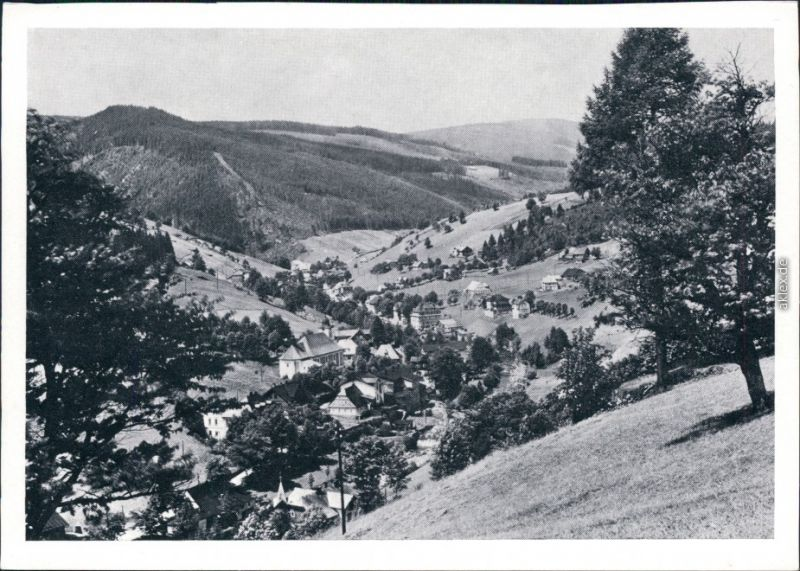 Groß Aupa-Petzer Velká Úpa Pec pod Sněžkou Panorama-Ansicht mit Weitblick 1965