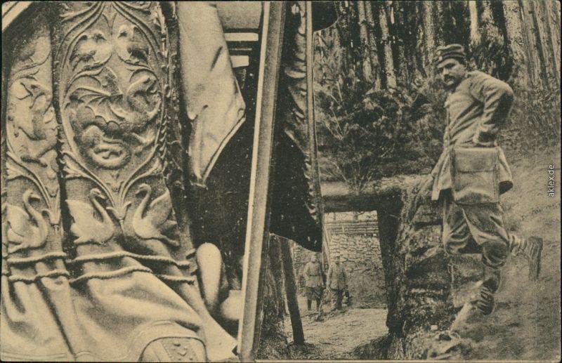 Ansichtskarte  Soldaten-Porträts 1. Weltkrieg 1917