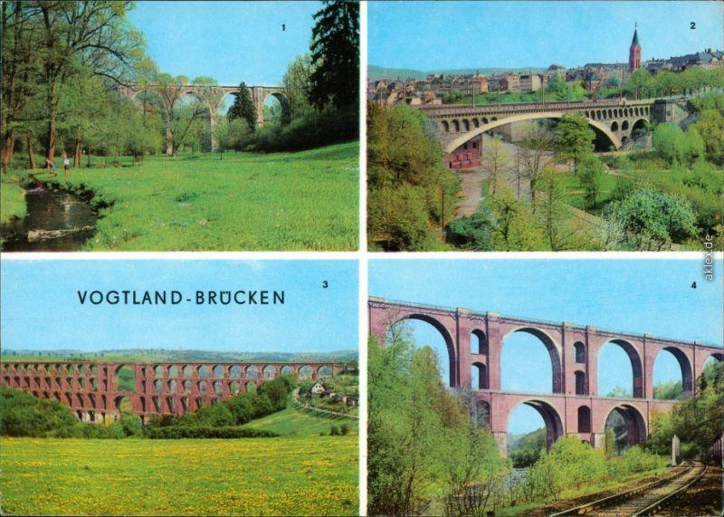 Plauen (Vogtland) Syratalbrücke,   Elstertalbrücke 1974