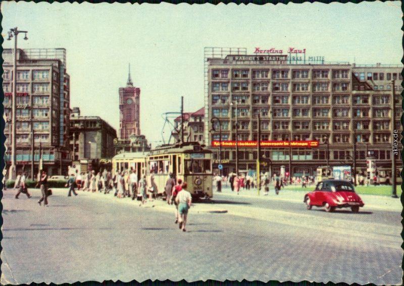 Ansichtskarte Mitte-Berlin Alexanderplatz 1957