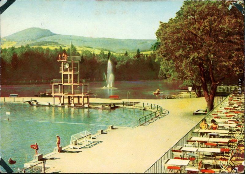 Ansichtskarte Großschönau (Sachsen) Waldstrandbad 1962