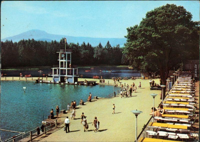 Ansichtskarte Großschönau (Sachsen) Waldstrandbad 1970
