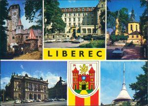 Reichenberg Liberec Burg, Kirche, Jeschken, Rathaus, Theater 1985