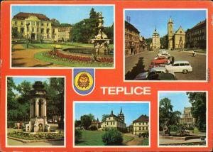 Teplitz - Schönau Teplice Schloss, Schlosskirche, Park, Brunnen 1979
