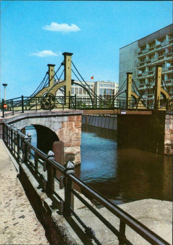 Ansichtskarte Mitte-Berlin Berlin Jungfernbrücke 1974