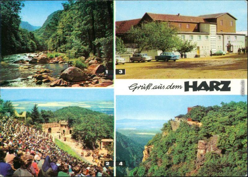 Thale (Harz)   Roßtrappfelsen, Hexentanzplatz u. Hotel