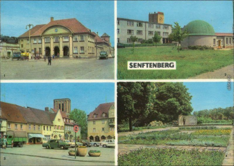 Senftenberg (Niederlausitz)  , Altmarkt /Platz der Freundschaft, Ehrenmal 1967