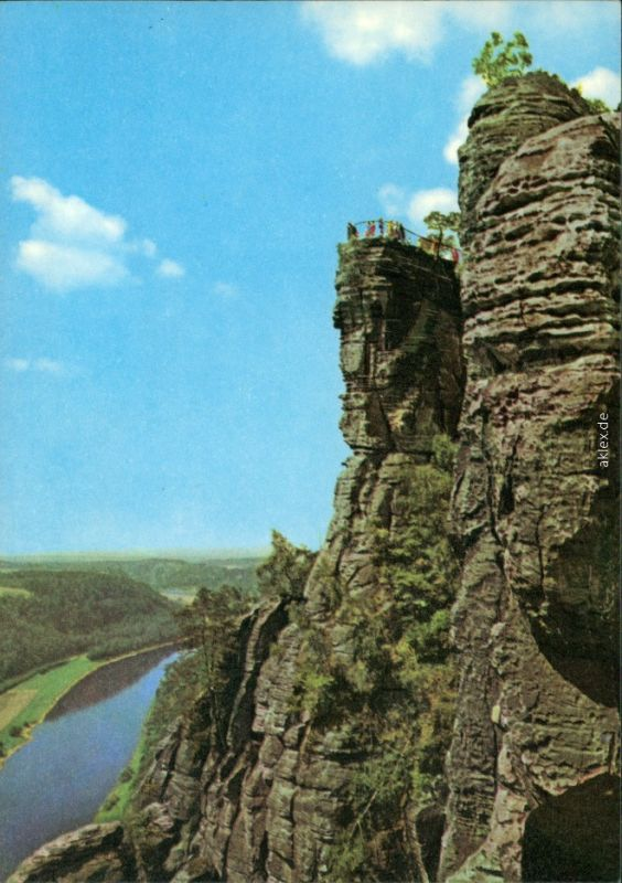 Ansichtskarte Rathen Basteifelsen (Sächsische Schweiz) 1974