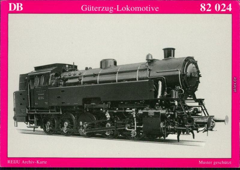 Ansichtskarte  DR Güterzug-Lokomotive 82 024 1950/1995