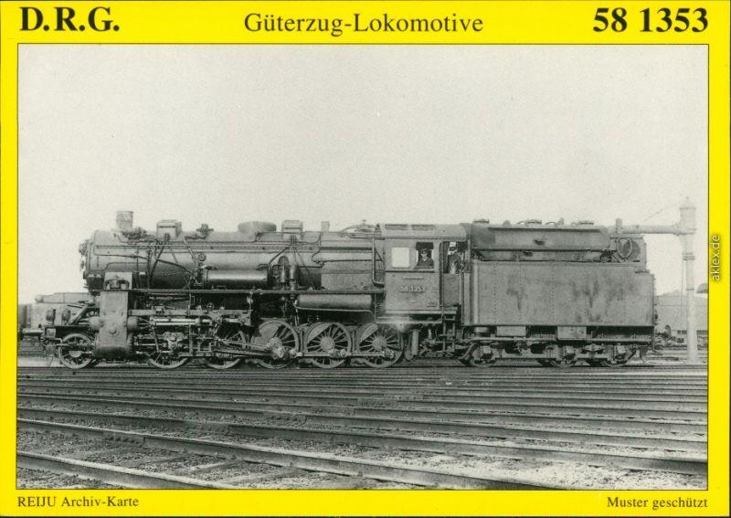 Ansichtskarte  D.R.G. Güterzug-Lokomotive 58 1353 1920/1995
