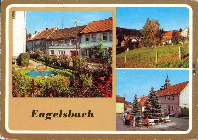 Ansichtskarte Engelsbach Hauptstraße, Teilansicht, Dorfstraße 1982