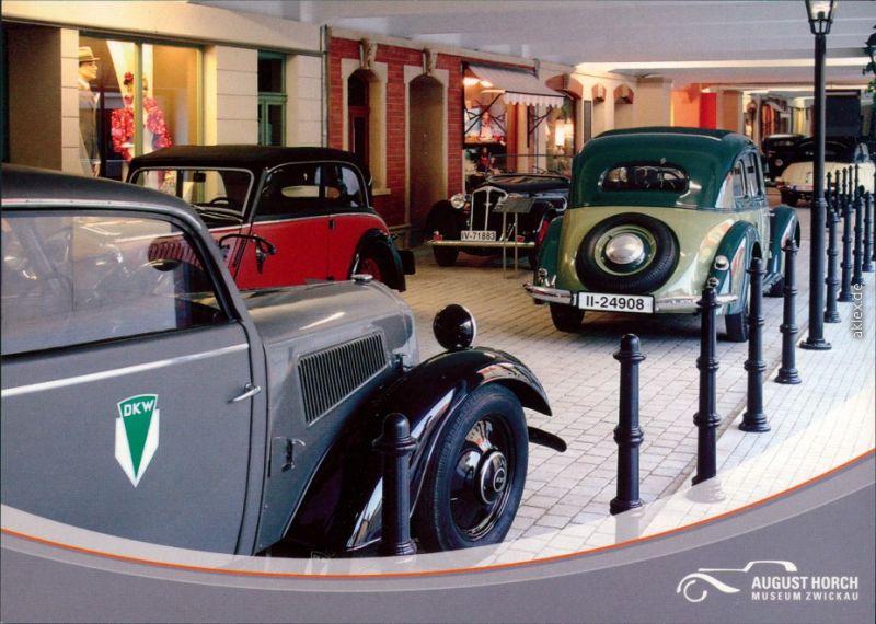 Ansichtskarte Zwickau August Horch Museum - Innenansicht 1998