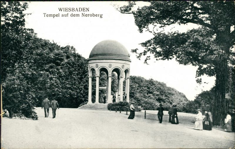 Ansichtskarte Wiesbaden Tempel - Neroberg 1913