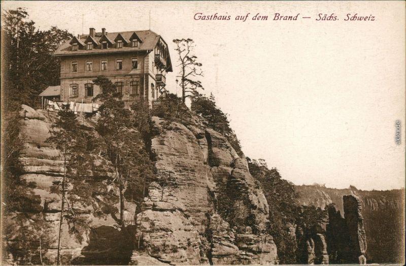 Hohnstein (Sächs. Schweiz) Gasthaus auf dem Brand, Sächsische Schweiz 1916 #