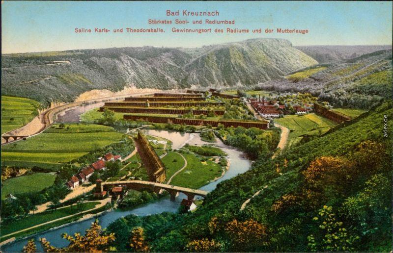 Ansichtskarte Bad Kreuznach Saline Karls- u. Theodorshalle 1911