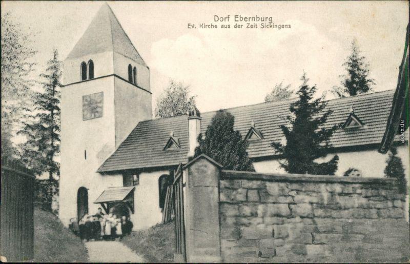 Ansichtskarte Ebernburg-Bad Münster am Stein-Ebernburg Ev. Kirche 1911