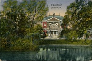 Ansichtskarte Düsseldorf Kunsthalle, Bismarck-Denkmal 1923