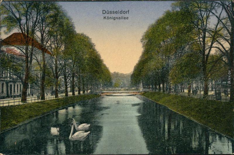 Ansichtskarte Düsseldorf Königsallee 1923