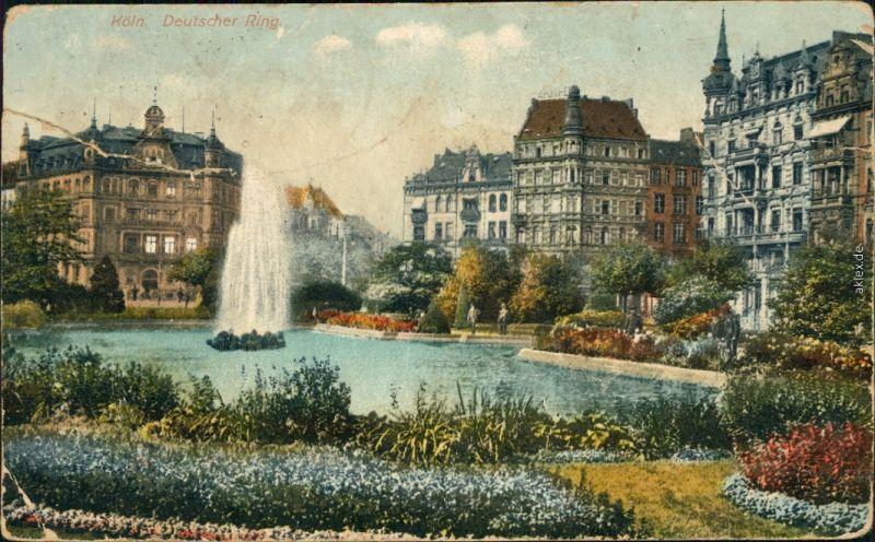Ansichtskarte Köln Coellen   Cöln Deutscher Ring 1922