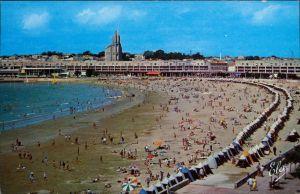 Ansichtskarte Royan Strand mit vielen Badegästen 1970
