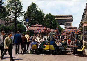 Ansichtskarte Paris Pariser Triumphbogen / Arc de Triomphe mit Café 1972
