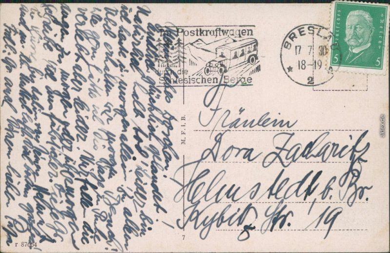 Breslau Karte 1930.Ansichtskarte Breslau Wroclaw Schweidnitzer Strasse Mit Stadttheater 1930