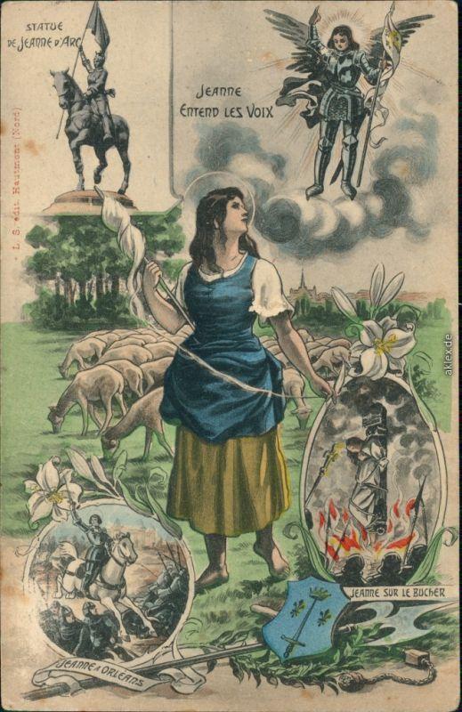 Ansichtskarte  Jeanne d'Arc / Johanna von Orléans 1923