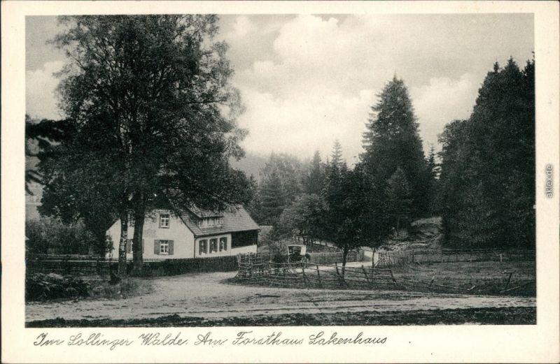 Ansichtskarte Neuhaus im Solling-Holzminden Am Forsthaus Lakenhaus 1932