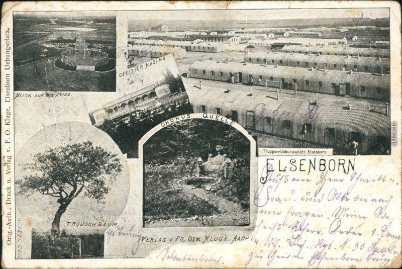 Elsenborn-Bütgenbach Truppenübungsplatz - Offizier Kasino - Heide - MB  1911