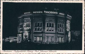 Ansichtskarte Leipzig Großgaststätte Panorama bei Nachtt 1942