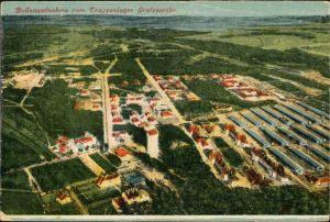 Ansichtskarte Grafenwöhr Ballonaufnahme vom Truppenübungsplatz 1924