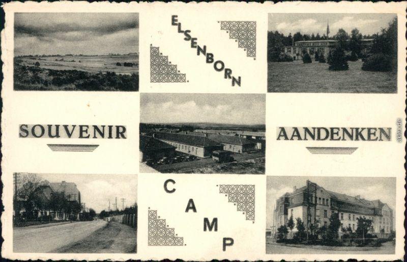 Ansichtskarte Elsenborn-Bütgenbach Truppenübungsplatz und Ortsmotive 1958