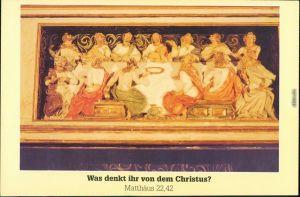 Doberlug-Kirchhain  Abendmahlsszene  Predella des Hochaltars Klosterkirche 1995