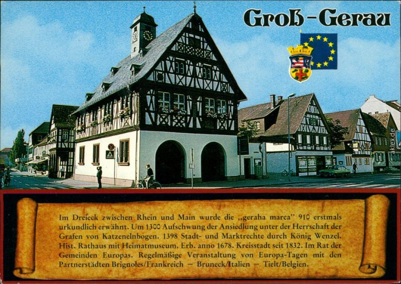 Ansichtskarte Groß-Gerau gross gerau Rathaus 1982