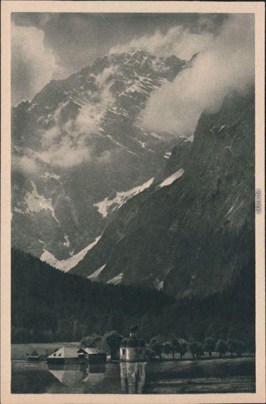 St. Bartholomä-Schönau am Königssee St. Bartholomä Bergmassiv 1930