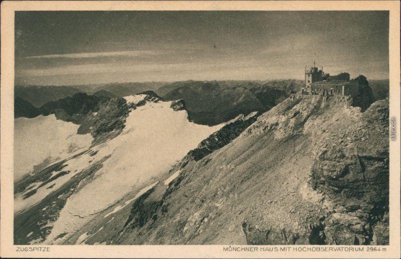 Ansichtskarte Grainau Münchner Haus (Zugspitze) 1930