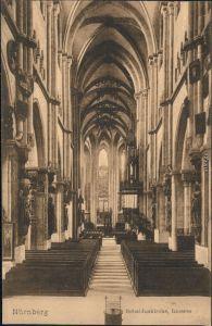 Ansichtskarte Nürnberg Sebalduskirche/St. Sebald - Inneres 1915