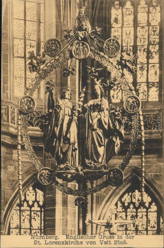 Ansichtskarte Nürnberg Lorenzkirche 1920