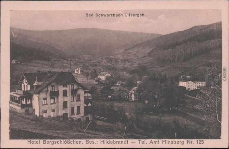 Bad Schwarzbach-Bad Flinsberg  Świeradów-Zdrój Hotel Bergschlößchen 1922