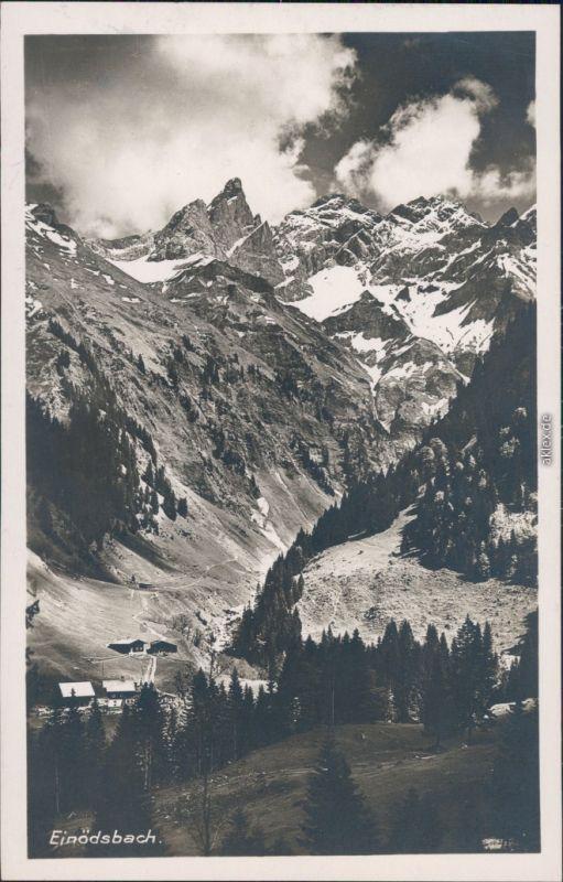 Ansichtskarte Einödsbach-Oberstdorf (Allgäu) Panorama, Alpen 1928