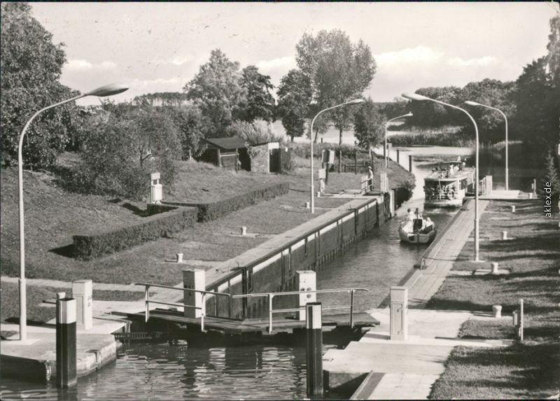 Ansichtskarte Canow-Wustrow (Mecklenburgische Seenplatte) Schleuse 1979