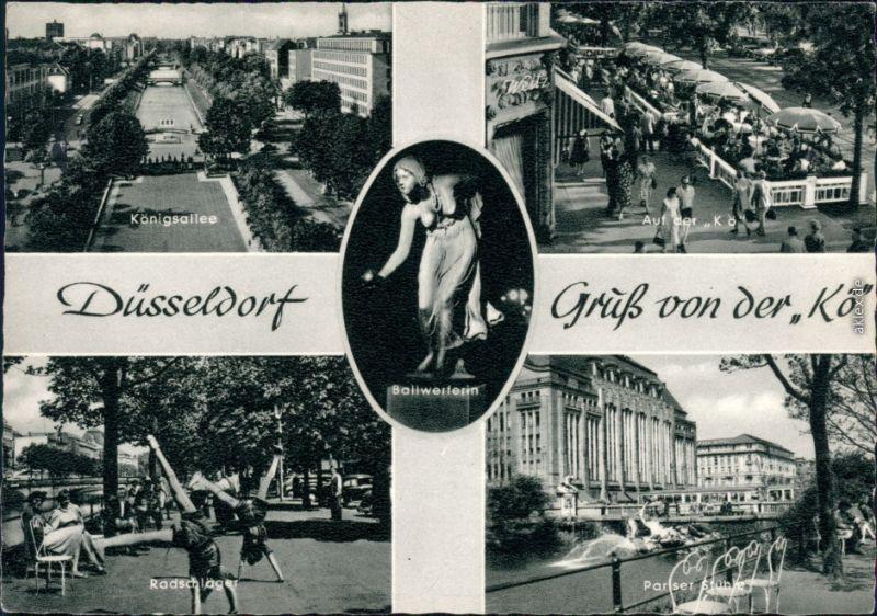 Ansichtskarte Düsseldorf Königsallee 1959
