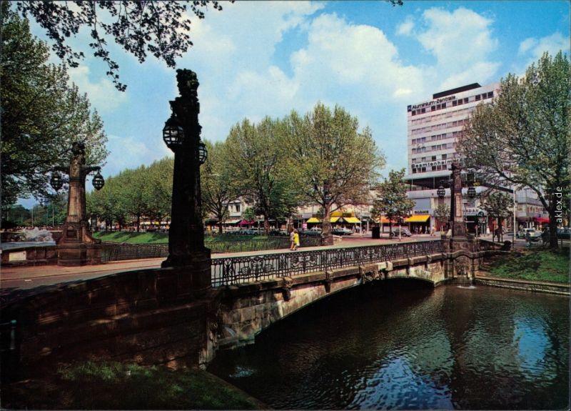 Ansichtskarte Düsseldorf Königsallee mit Kö-Center 1975