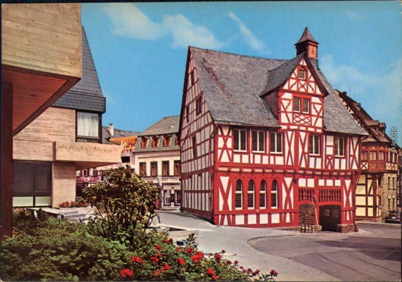 Ansichtskarte Rhens Altes Rathaus und Neues Rathaus 1980